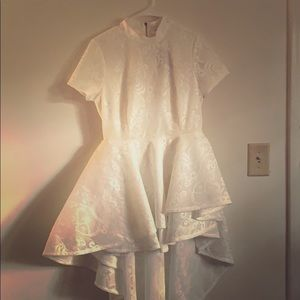 Formal White High Low dress